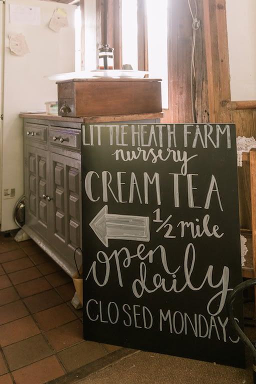 Blackboard signpost for Cream Tea