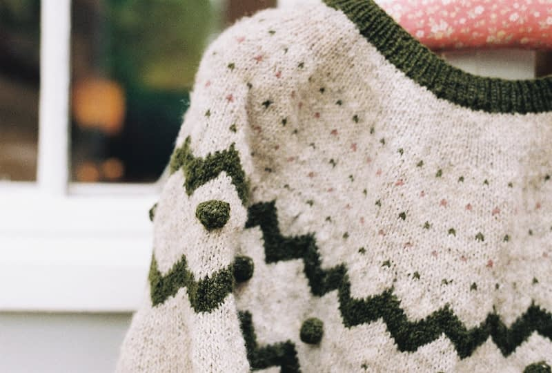hand knitted jumper Folksy by Melody Hoffman