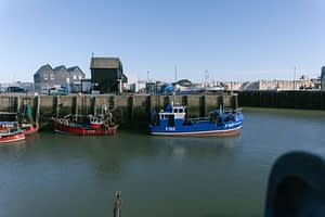 Whitstable dock with fishing boats