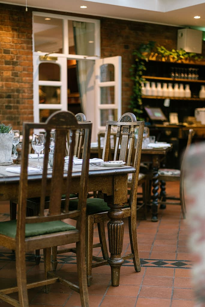 Table set for Iunch at Farmhouse at Redcoats